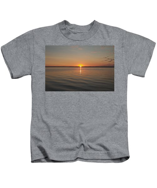 Sunrise On Seneca Lake Kids T-Shirt