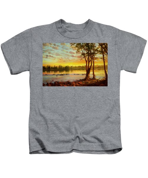 Sunrise On The Columbia Kids T-Shirt