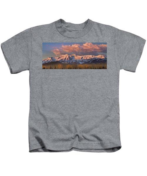 Sunrise On Timpanogos Kids T-Shirt