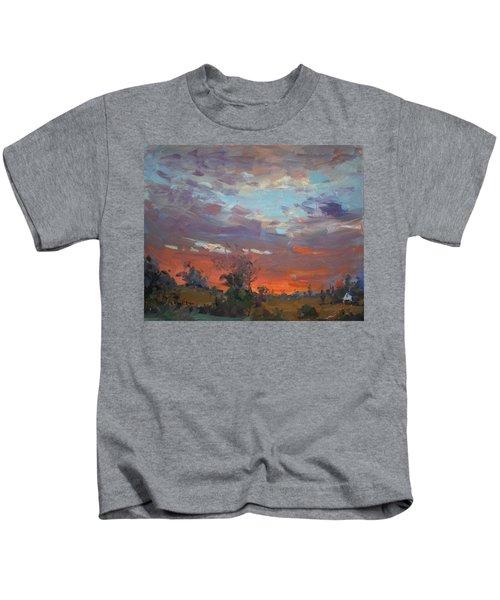 Sunset After Thunderstorm Kids T-Shirt