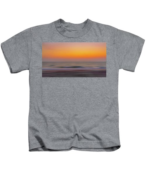 Sunset At The Beach Kids T-Shirt