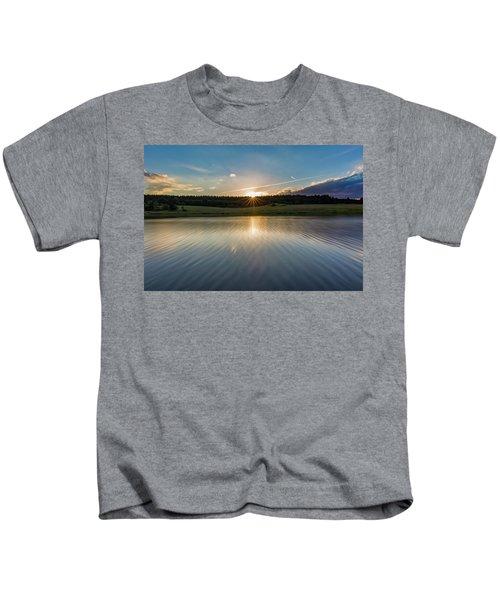 Sunset At The Mandelholz Dam, Harz Kids T-Shirt