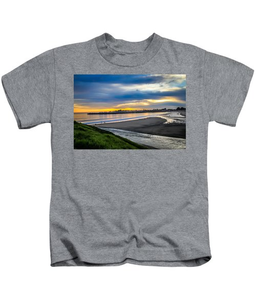 Sunset At The Rivermouth Kids T-Shirt