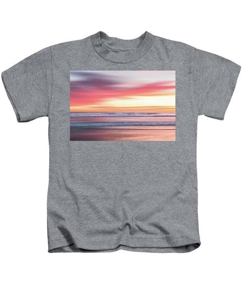 Sunset Blur - Pink Kids T-Shirt