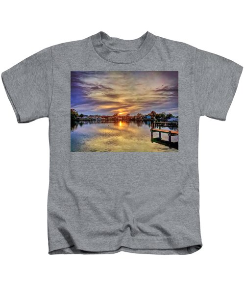 Kids T-Shirt featuring the photograph Sunset Creek by Chris Montcalmo