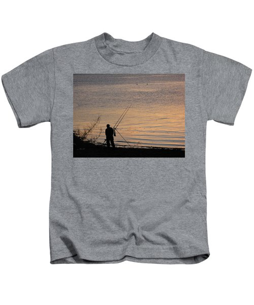 Sunset Fishing On The Loch Kids T-Shirt