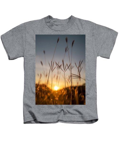 Sunset Grass Kids T-Shirt
