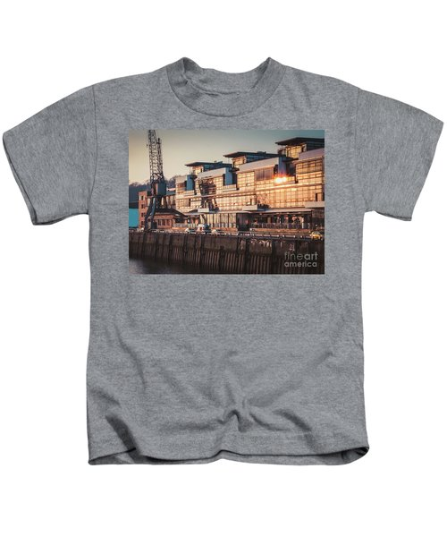 Sunset In Altona Hamburg Kids T-Shirt