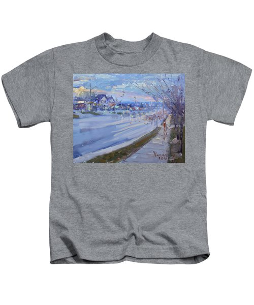 Sunset In Guelph St Georgetown On Kids T-Shirt