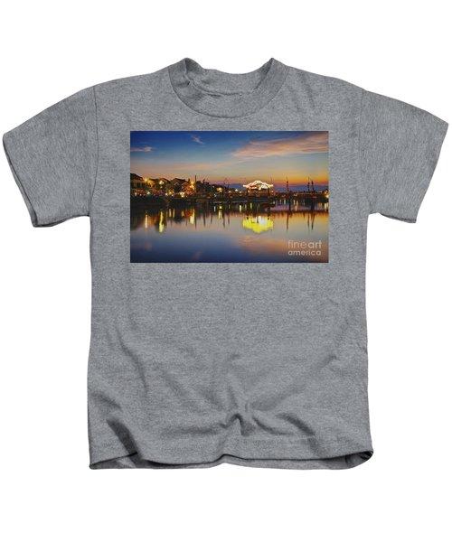 Sunset In Hoi An Vietnam Southeast Asia Kids T-Shirt