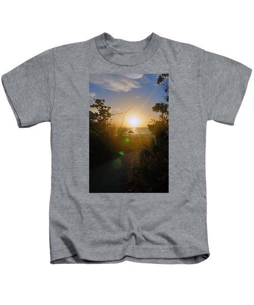 Sunset In Naples At Barefoot Beach Kids T-Shirt