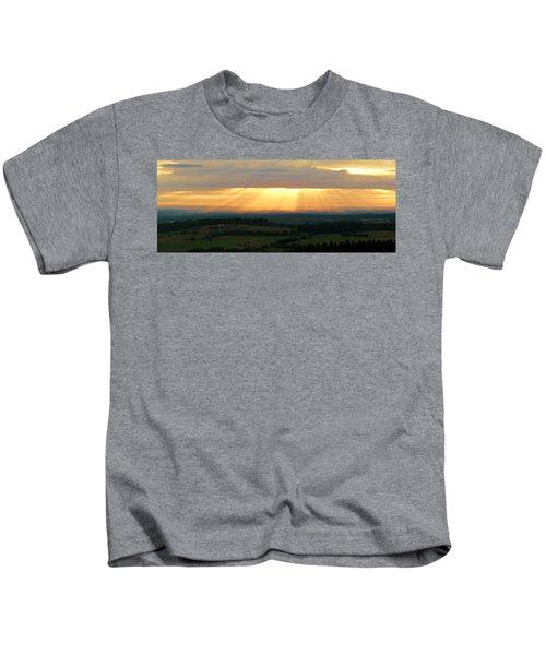 Sunset In Vogelsberg Kids T-Shirt