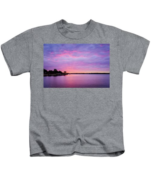 Sunset Lake Arlington Texas Kids T-Shirt