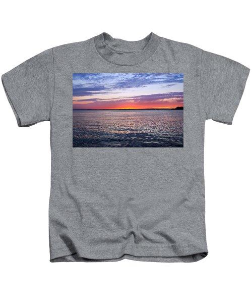 Sunset On Barnegat Bay I - Jersey Shore Kids T-Shirt