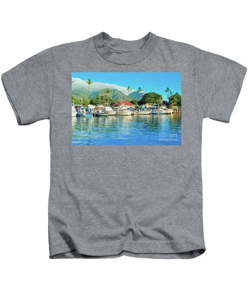 Sunset On The Marina Lahaina Harbour Maui Hawaii Kids T-Shirt
