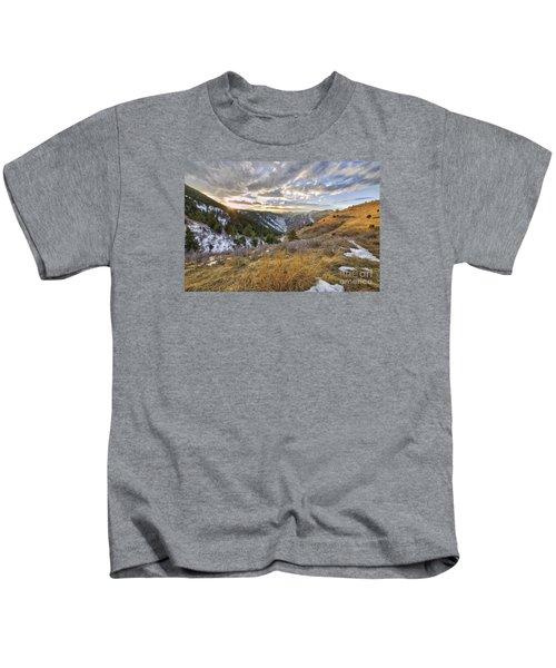 Sunset Over Clear Creek Canyon Kids T-Shirt