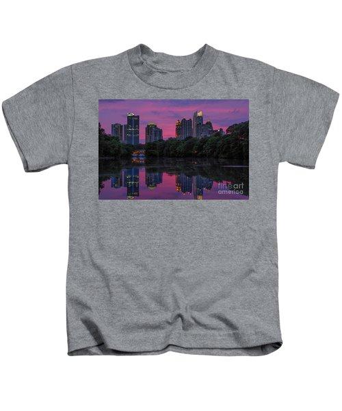 Sunset Over Midtown Kids T-Shirt
