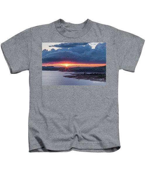 Sunset Over Millerton Lake  Kids T-Shirt