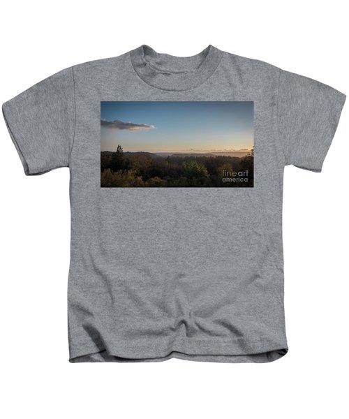 Sunset Over Top Of Dense Forest Kids T-Shirt