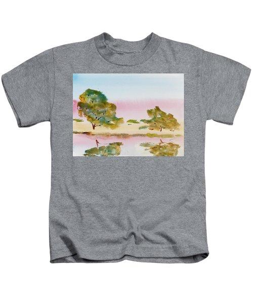 Reflections At Sunrise Kids T-Shirt