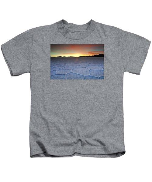 Lake Uyuni Sunset Texture Kids T-Shirt