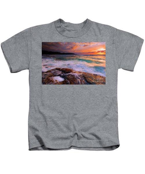 Sunset Wave Curl Kids T-Shirt