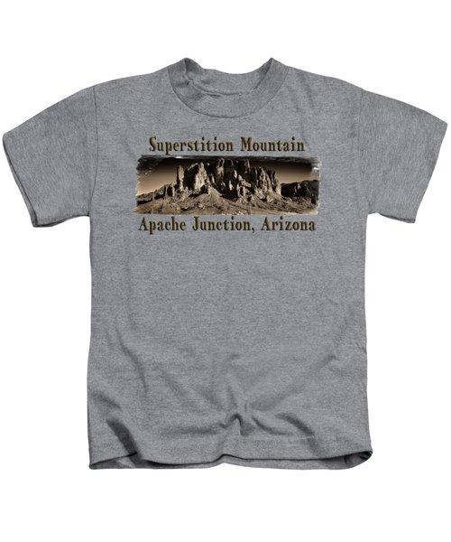 Superstition Mountain  Kids T-Shirt