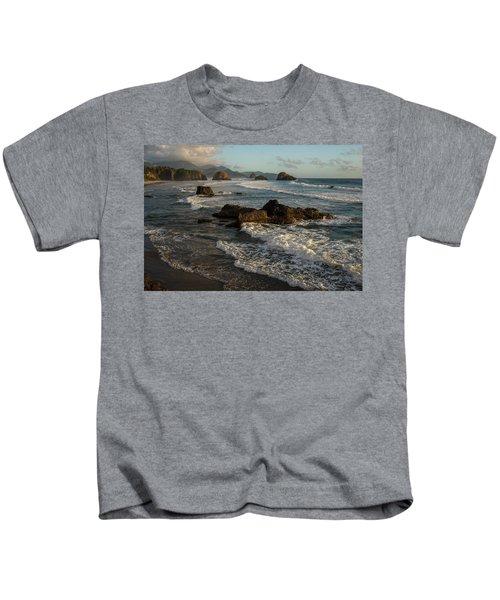 Surf At Crescent Beach Kids T-Shirt