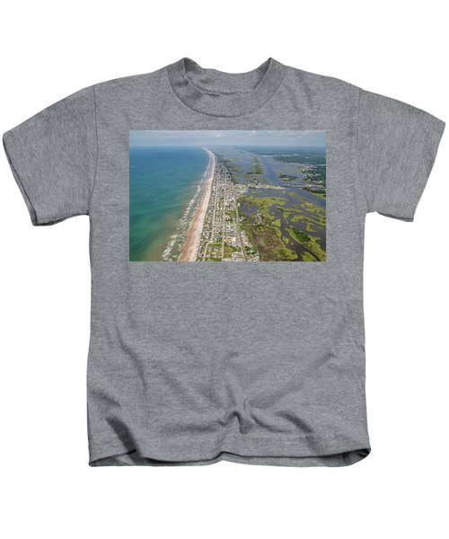 Surf City Topsail Island Longview Kids T-Shirt