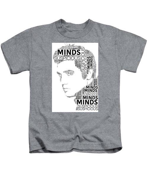 Suspicious Minds Elvis Wordart Kids T-Shirt