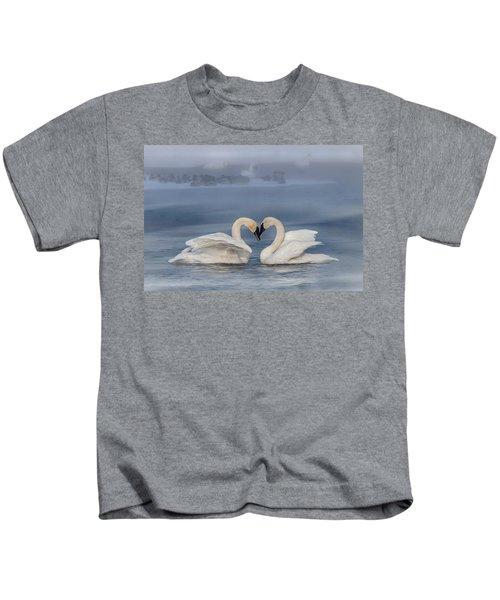 Swan Valentine - Blue Kids T-Shirt