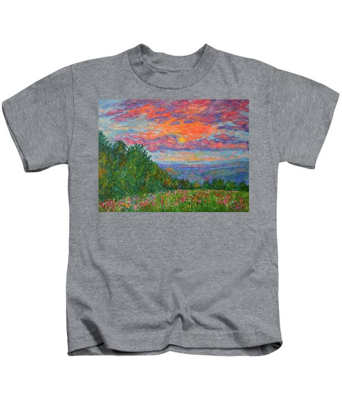 Sweet Pea Morning On The Blue Ridge Kids T-Shirt