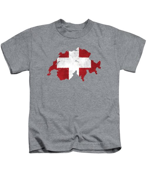 219d0271f8c Switzerland Map Art With Flag Design Kids T-Shirt