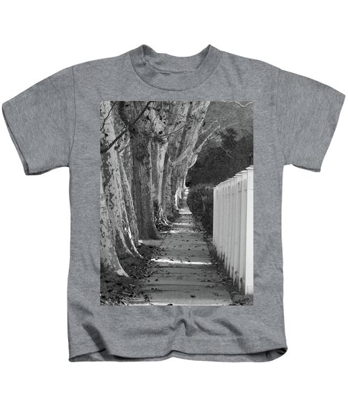 Sycamore Walk-grayscale Version Kids T-Shirt