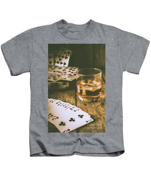 Table Games And The Wild West Saloon  Kids T-Shirt