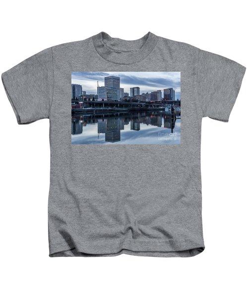 Tacoma Waterfront,washington Kids T-Shirt