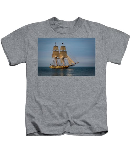 Tall Ship U.s. Brig Niagara Kids T-Shirt