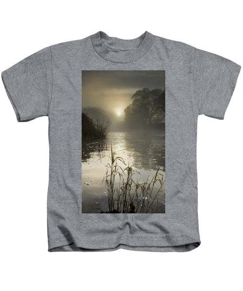 Tamar River Winter  Sunrise, Uk Kids T-Shirt