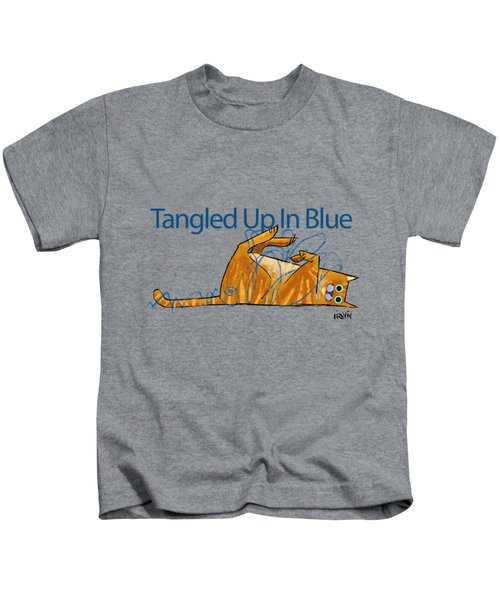 Tangled Up In Blue Kids T-Shirt