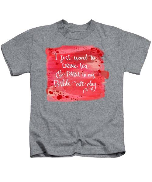 Tea And Paint Kids T-Shirt