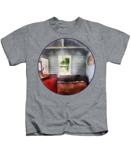 Teacher - One Room Schoolhouse With Hurricane Lamp Kids T-Shirt