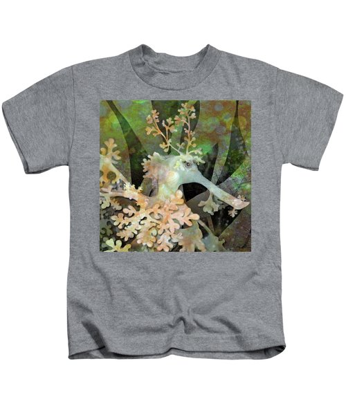 Teal Leafy Sea Dragon Kids T-Shirt