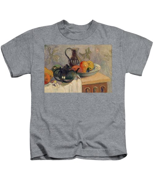 Teiera Brocca E Frutta Kids T-Shirt by Paul Gauguin