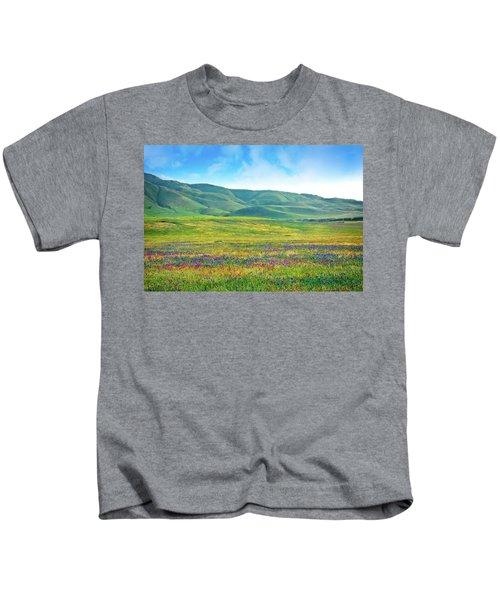 Tejon Ranch Wildflowers Kids T-Shirt