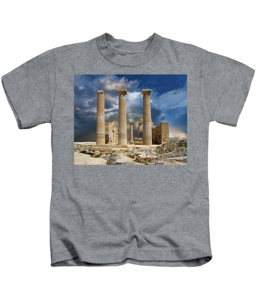 Temple Of Athena Kids T-Shirt