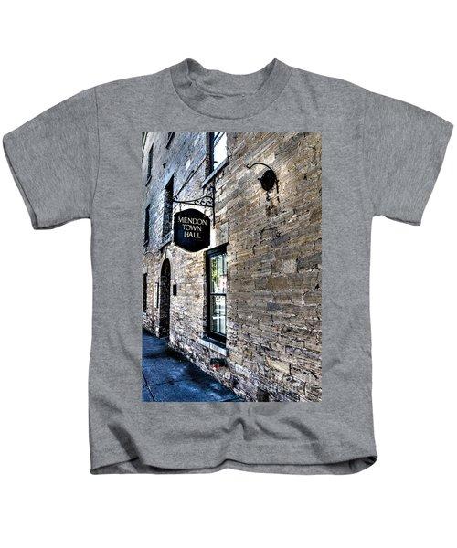Mendon Town Hall Kids T-Shirt