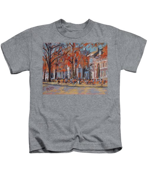 Terrace In The Grand Tanners Street Maastricht Kids T-Shirt by Nop Briex