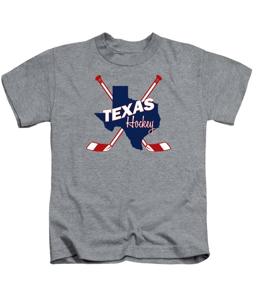 Texas State Hockey Kids T-Shirt by Summer Myers