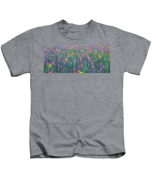 Texas Wildflowers Abstract Kids T-Shirt