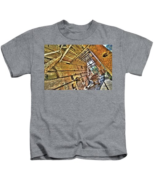 The Abandoned Furnace Quarry Building Kids T-Shirt